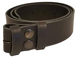 Black Smooth Grain Snap Fit Belt - Xxl