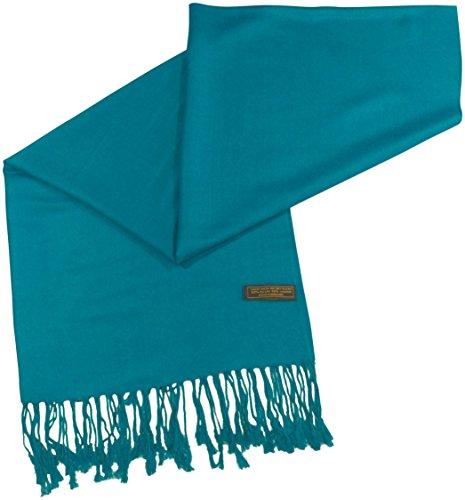 CJ Apparel Large écharpe/châle en pashmina (60 couleurs et plus) Nouveau Cyan