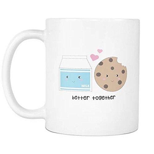 Cbuyncu Better together Love cuore in ceramica latte tazza 311,8gram Travel Hot tè tazze di (Personalizzati Tazza Di Caffè)