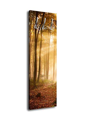 wandmotiv24 Garderobe mit Design Forrest G428 40x125cm Wandgarderobe Wald Natur Baum