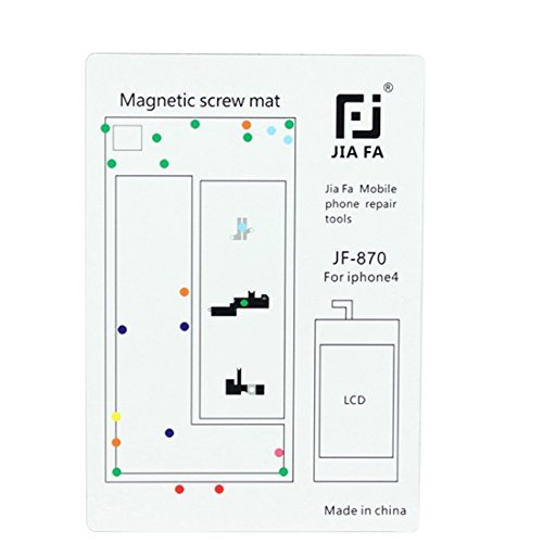 Reparatursätze, JIAFA für iPhone 4 Magnetische Schrauben Mat - 4 Iphone Mat Schraube