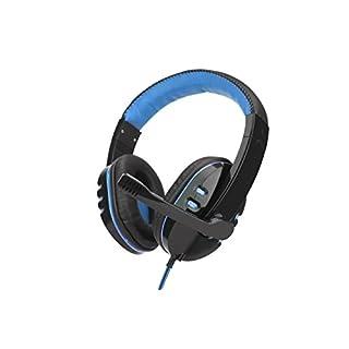 VANSENG Headset Musik Gaming-Kopfhörer für PC mit kabelgebundener Fernbedienung Mikrofon mit niedrigem Sprachband (Blau)