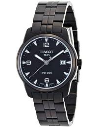 Tissot PR 100 Sport T0494103305700 - Reloj de caballero de cuarzo, correa de acero inoxidable color negro