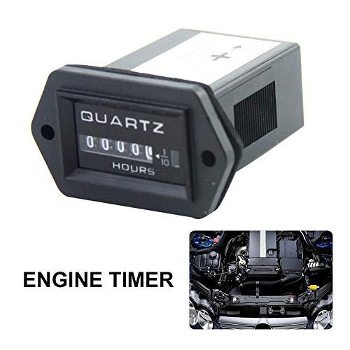 liuxi9836 Contatore orario Meccanico Motore Rettangolare per Fuoristrada Diesel per Trattore Camion - Contatore orario da 12V a 36V