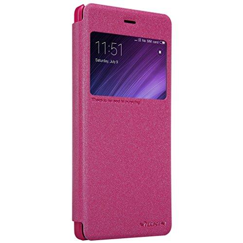 XiaoMi RedMi Note 4X Tasche Hülle - Glänzen Flip Schutzhülle für XiaoMi RedMi Note 4X - Gold Rot