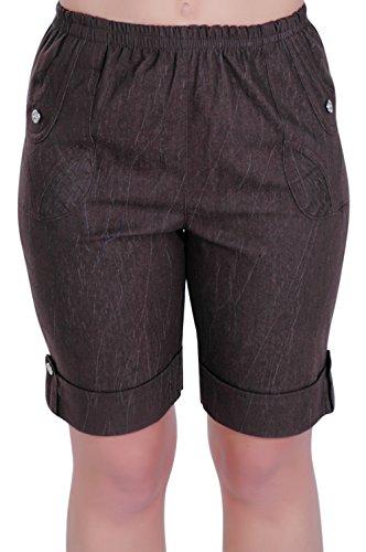 EyeCatch - Short comfort stretch grandes tailles -Femme Nouveau Brun