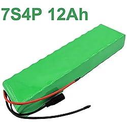 24V 12Ah 25.9V Li-ion Batterie électrique Vélo électrique 7S4P 25.2V