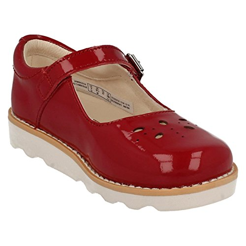 Clarks Crown Posy Inf Ballerina Rot