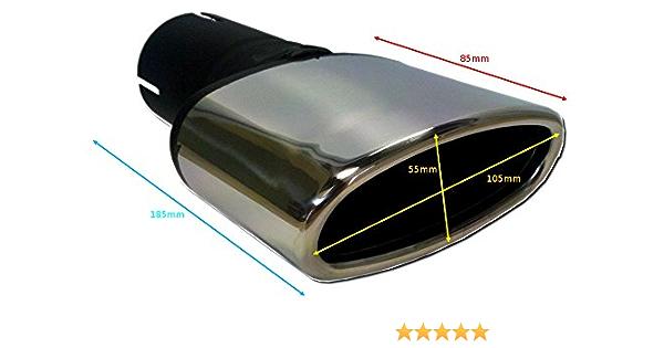 Cartuner Auspuffblende Endrohr 50mm Anschluss Oval Tuning Sportauspuff Optik Edelstahl Auto