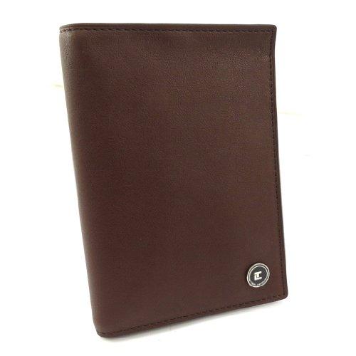 Ted Lapidus [K5625] - Porte passeport 'Ted Lapidus' marron