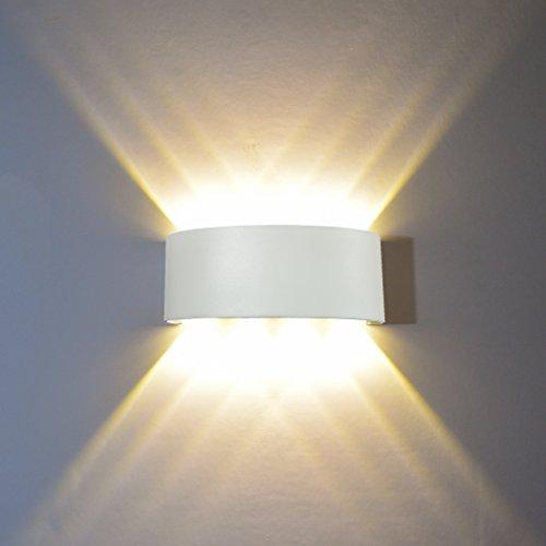 HONPHIER 8W Wandlampe Wandleuchte LED Innen Modern LED Lichter Wasserdichte Aluminium Wandbeleuchtung Up Down Leuchte, Wandleuchten für Schlafzimmer Wohnzimmer Korridor Bad Flur - Moderne 8-licht Bad Leuchte