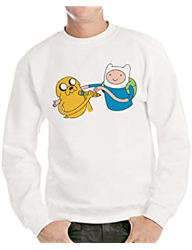 Felpa Girocollo ADVENTURE TIME - CARTOON by Mush Dress Your Style