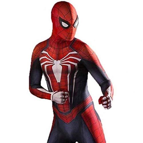 gikmhyb PS4 Spiderman Anime Kleidung Spinne Strumpfhosen Overall Onesies Druck Hoodie Halloween Kostüm Party Film Prop Superheld,Small (Halloween Kostüme Basierend Auf Den Filmen)