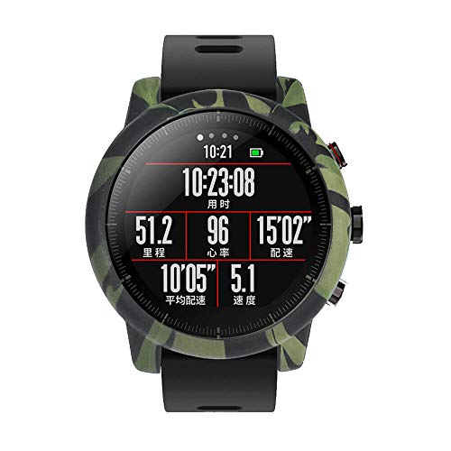 Case Protector Compatibile con Amazfit Huami Stratos 2 / 2S Smartwatch Watch, Camouflage Soft Cover TPU Silicone Protettiva Full Screen Case Cover