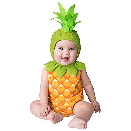 shoperama Ananas Baby Kostüm Strampler und Mütze mit Strunk Kinder Frucht Obst Mädchen Junge - Kinder Frucht Kostüm