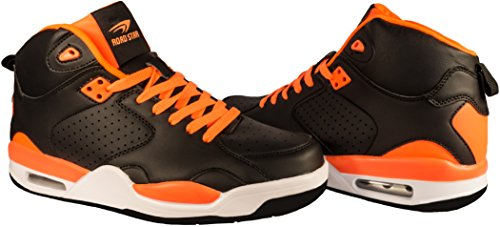 Unbekannt, Scarpe Basket uomo Schwarz (Schwarz/Orange)