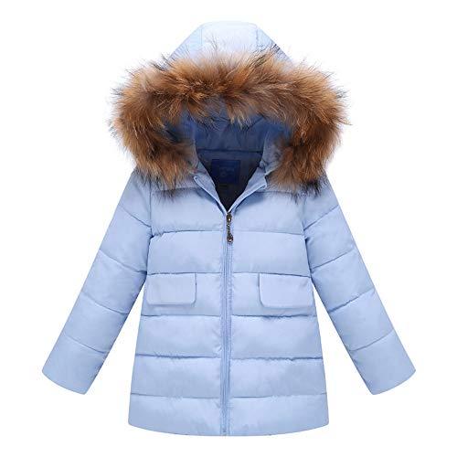 Amphia Kindermantel Mädchen warme Jacke Daunenjacken Steppjacke - Fashion Kids Coat Jungs Mädchen dicken Mantel gepolstert Winter warme Jacke Kleidung(Blau,130)