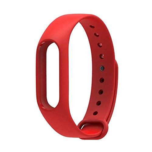 Wrist Strap Band Belt Wristband Silicone Wearable Case Cover For Xiaomi Mi Band 2 - Red (Not For Mi Band 1)  available at amazon for Rs.199