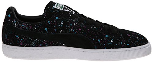 Puma Classic Splatter Daim Baskets Black-Team-Gold
