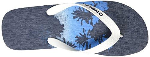 O'Neill Herren Fm Profile Palms Flip Flops Zehentrenner Blau (BLUE Allover Print)