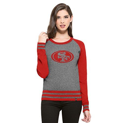 NFL Damen '47 Neps Sweater, Slate Grey Neps, Large - Knit Black Slate
