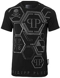 Philipp Plein Tee Shirt Printé Strassé Mtk1462 Brother f38969f7fbef