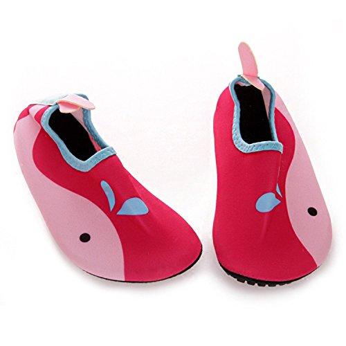 Strandschuhe/ Aquaschuhe/ Surfschuhe mit Mehrfabe EU 24-25 / 14,5-15 cm, rosa (Kinder)