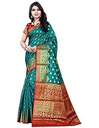 7fdae01fc8 FKART Women's banarasi jacquard sarees for women silk sarees for women (Myra )