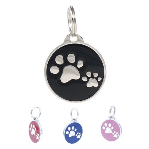 pettouchid-smart-pet-id-tag-qr-code-nfc-gps-location-paws-black