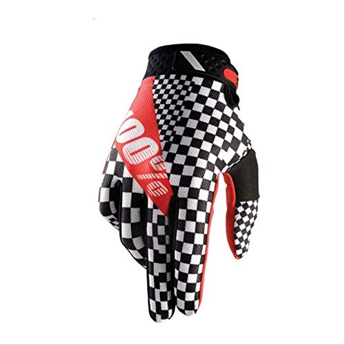 taintianxs Frühling Sommer Vollfinger Motorradhandschuhe Motocross Leder Motorrad Wasserdicht Winddicht Rennhandschuhe L F -
