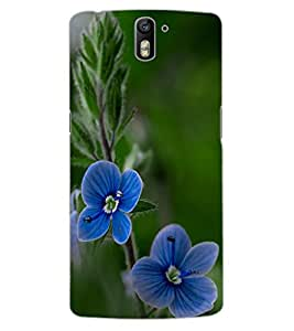 ColourCraft Beautiful Flowers Design Back Case Cover for OnePlus One