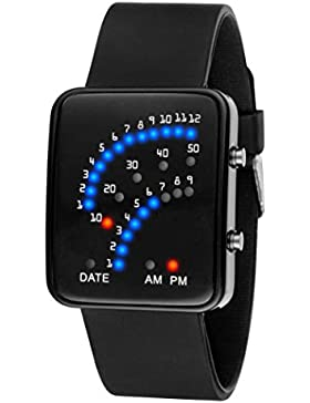 kingko® Uhren, Unisex Männer Frauen wasserdichte Armbanduhr elegant Uhr Zeitloses Design Classic Leather römischen...