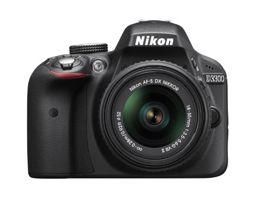 Nikon D3300 24.2 MP CMOS Digital SLR with AF-S DX NIKKOR 18-55mm f/3.5-5.6G VR II Zoom Lens (Black)  available at amazon for Rs.67949