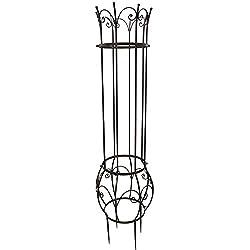 """Rankhilfe Blumengitter Rosen """"Vianda"""" dunkelbraun Höhe 160 cm"""