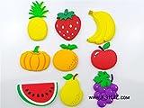 Kaili-'s 2016New Set Früchte Gemüse Kids Soft Kühlschrank Magnet Educational Learning Toys ungiftig geruchlos, Schock, kratzfest Tafel Whiteboard