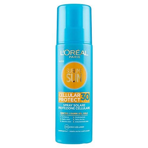 L'oréal paris sublime sun cellular protect, spray solare protezione cellulare ip 30, 200 ml