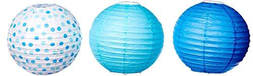 amscan Multi Blue Papier Laternen (Blue Baby Halloween-spiel)