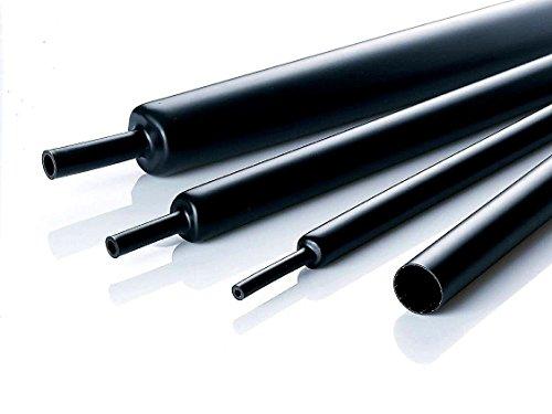 60 mm Innendurchmesser, 200 cm Länge , Schrumpfschlauch UL , schwarz , 2:1 schrumpfung (Innen Am Bund)