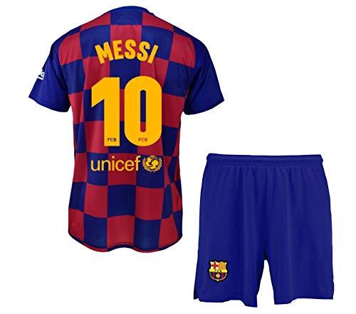 Conjunto Camiseta y Pantalón 1ª Equipación FC. Barcelona 2019-20 - Replica Oficial Licenciado - Dorsal 10 Messi - Niño talla 8 - Si tuviera alguna duda póngase en contacto con nosotros.