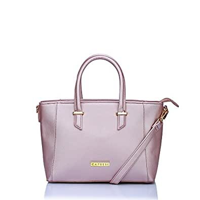 0d8a2de3f9e Caprese Porsche Women s Tote Bag (Metallic Pink)  Amazon.in  Shoes ...