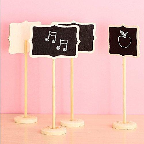(Musuntas Neue Minitafel 12 Tafeln auf Stick stehen Platzhalter Hochzeit Partydekoration Brett Größe für die Tischnummerierung und für das Buffet 8.5 * 6cm)