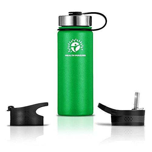 tle- funktioniert as-travel Kaffee; Becher isoliert Wasser bottle- Best Thermos Reisebecher-our-water Flaschen BPA-frei, grün ()