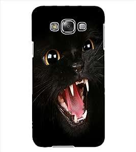 ColourCraft Black Cat Design Back Case Cover for SAMSUNG GALAXY GRAND MAX G720