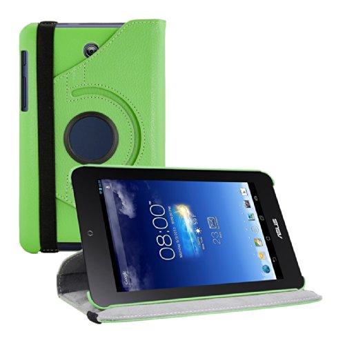 kwmobile Funda para Asus Memo Pad HD 7   Case de 360 grados de cuero sintético para tablet   Smart Cover completo y plegable para tableta en verde