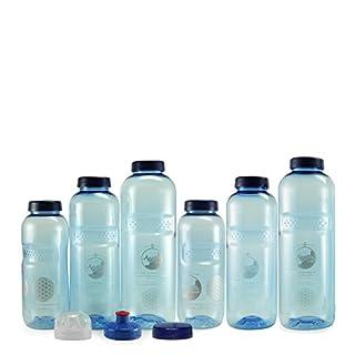 Acala Trinkflaschen - Großes Tritan Optimal Set mit Blume des Lebens