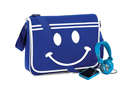 Smiley Face-Unisex-lustige Sprüche Neuheit Retro Messenger Bag- helle Königs