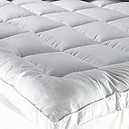 Sleep X Factory Premium Hotel Mattress Felt 200x200+14 - Microfiber Filler 100% Cotton Fabric - 5.5 Inch Heigh