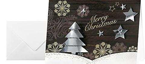 Sigel DS455 Handmade-Weihnachts-Karten Set mit Umschlag, A6, 10 Stück