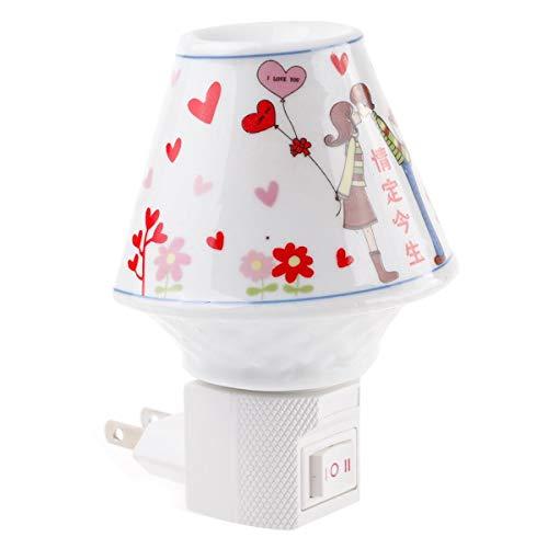 Chengxin Gang Wandleuchten Aromatherapie Lampe Nachttischlampe Keramik Nachtlicht Kreatives Plug-in Baby Licht Wandbeleuchtung
