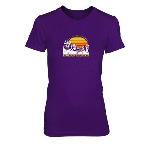 Lookout Mountain - Damen T-Shirt, Größe: XL, Farbe: lila
